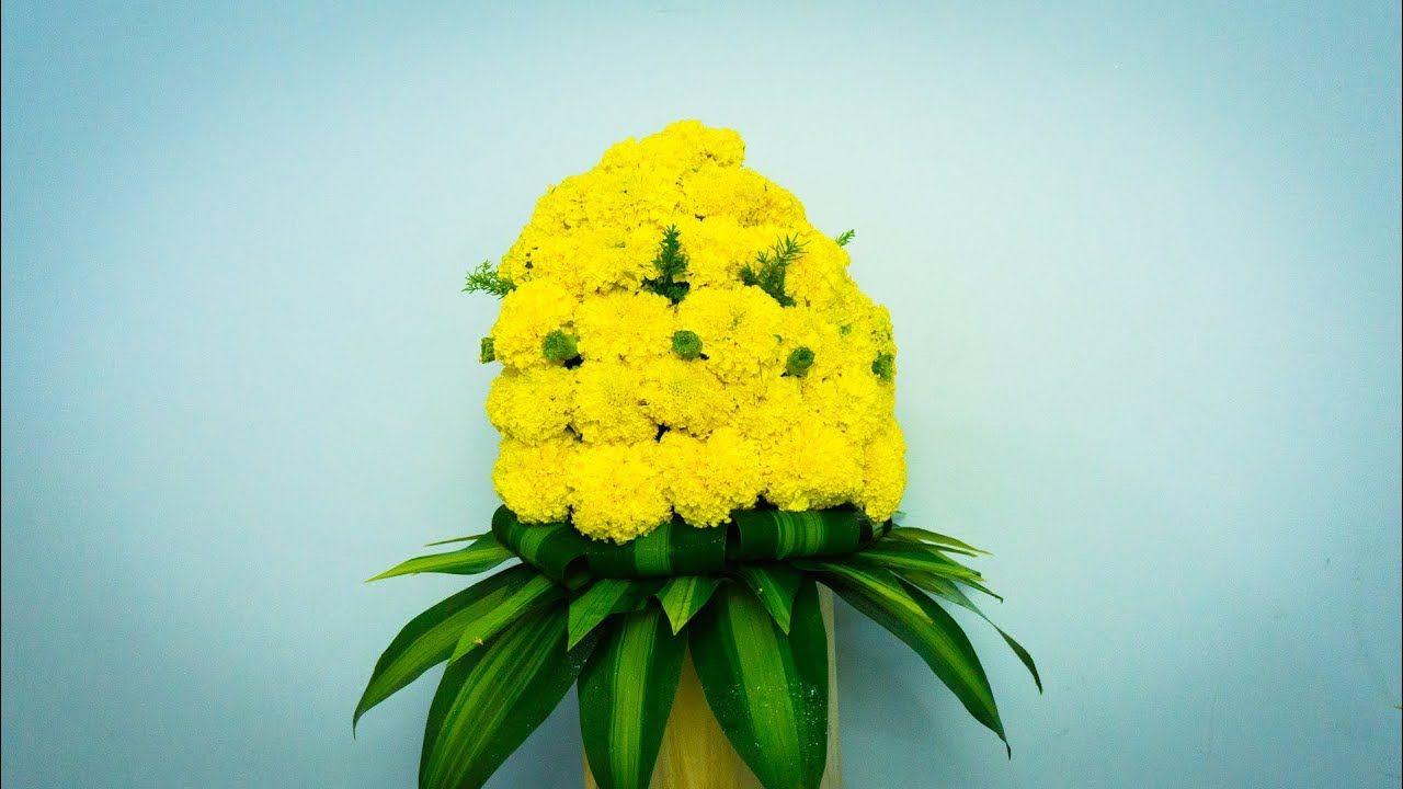 Hoa cúc vạn thọ xếp thành cụm rất đẹp