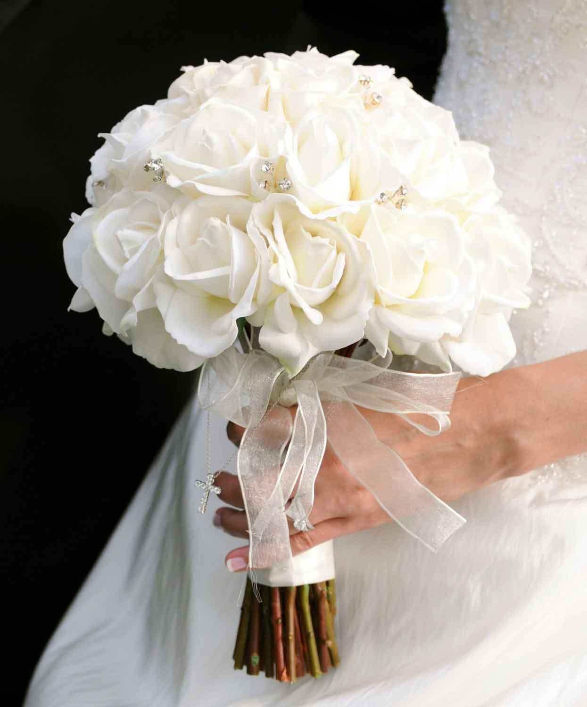 Lẵng hoa hồng trắng cực đẹp