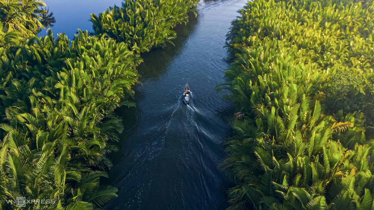 Rừng dừa nước cực nên thơ trữ tình