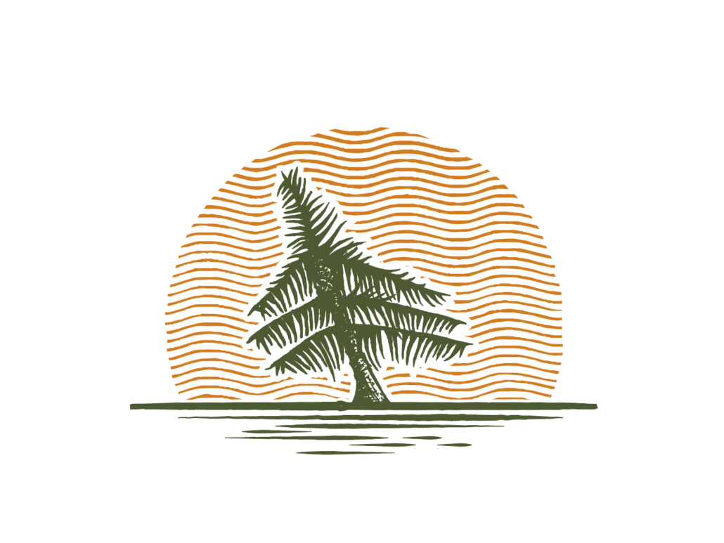 Tranh logo hình cây dừa