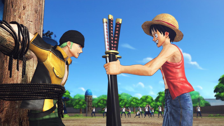 Hình 3D Luffy và Zoro One Piece