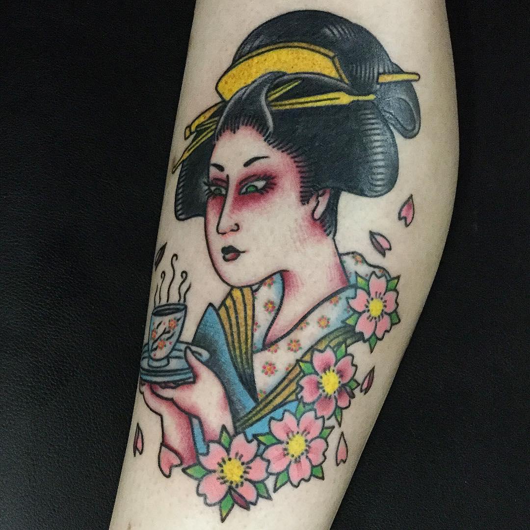 Hình xăm cô gái Geisha đẹp nhất