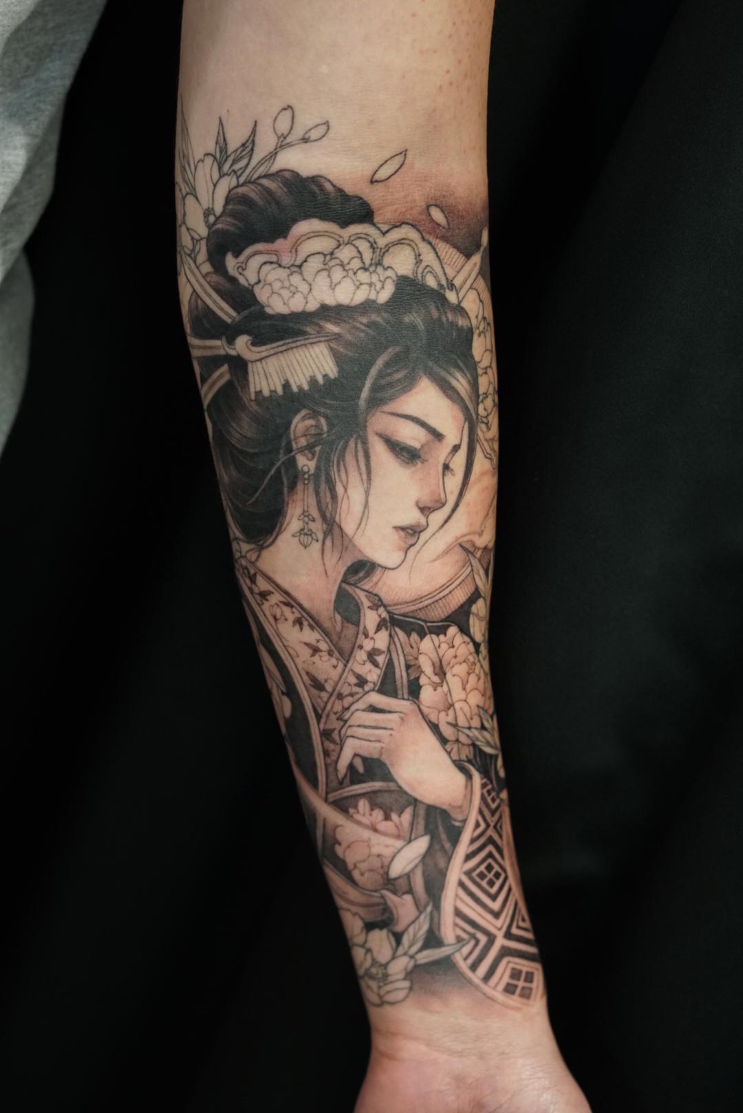 Hình xăm Geisha đẹp nhất