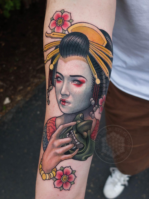 Hình xăm Geisha đẹp
