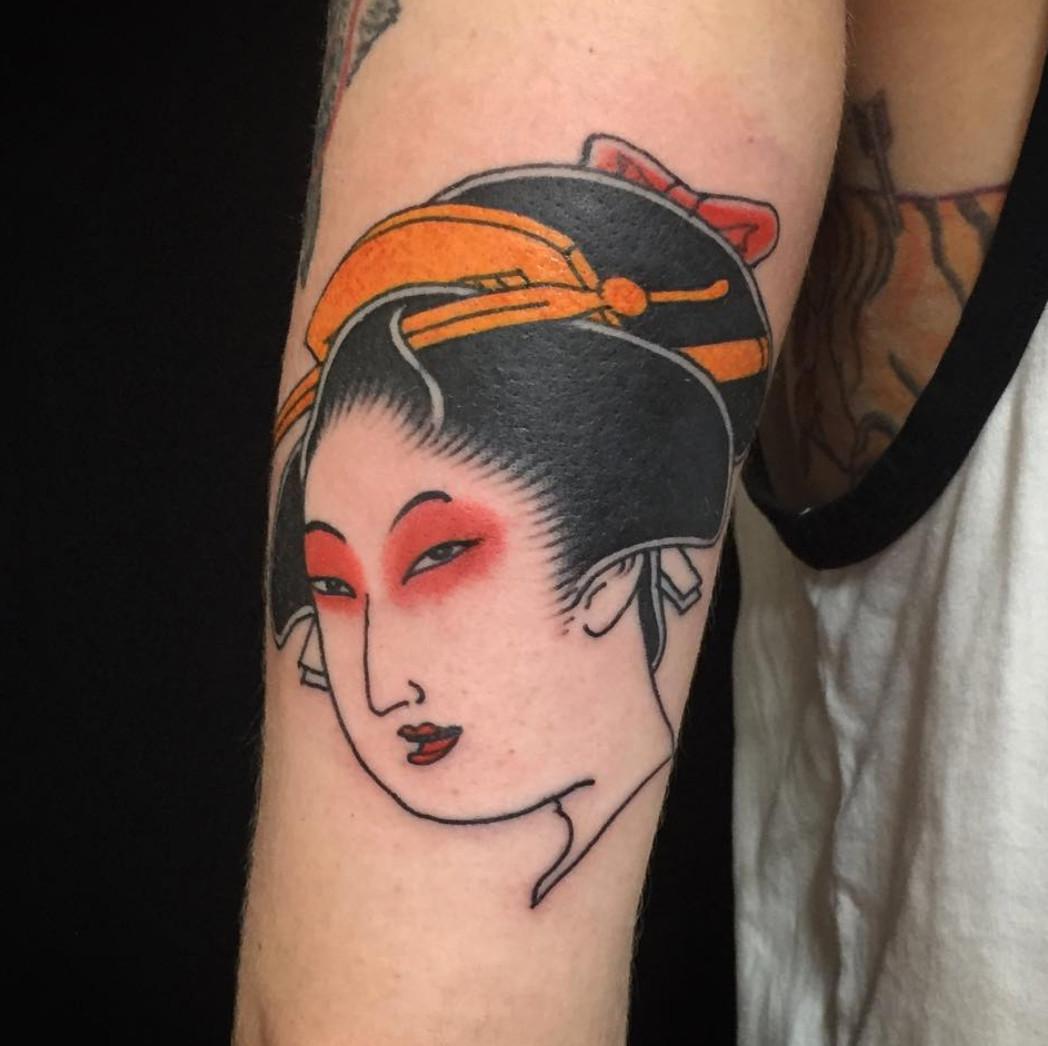 Hình xăm Geisha Nhật Bản cực đẹp
