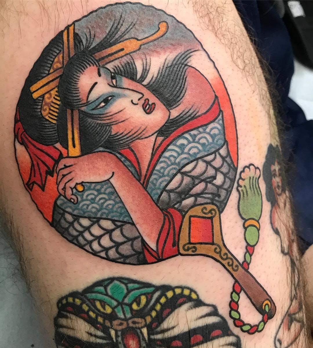 Hình xăm Geisha sáng tạo