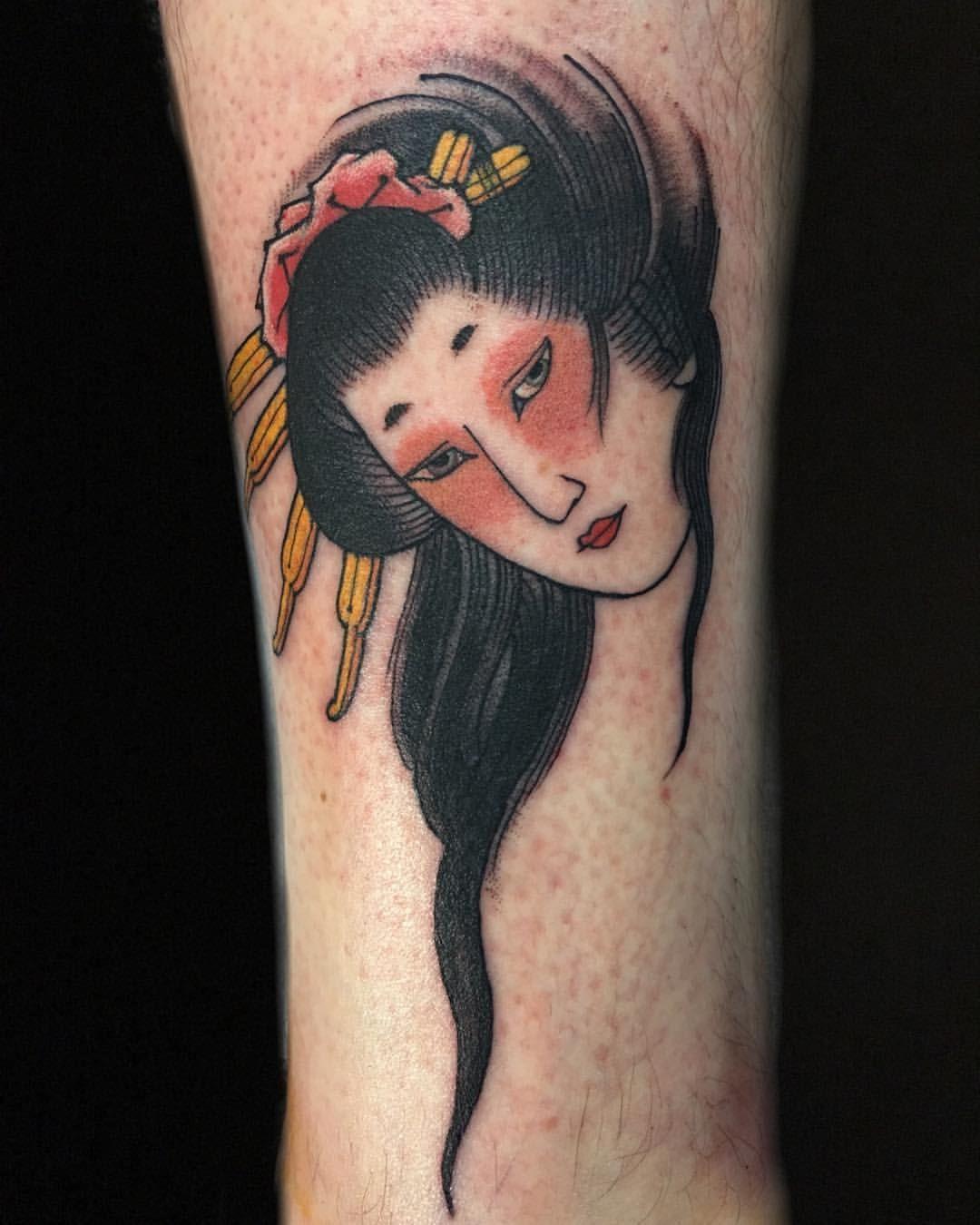 Mẫu hình xăm cô gái Nhật đẹp