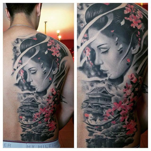 Mẫu hình xăm Geisha đẹp nhất