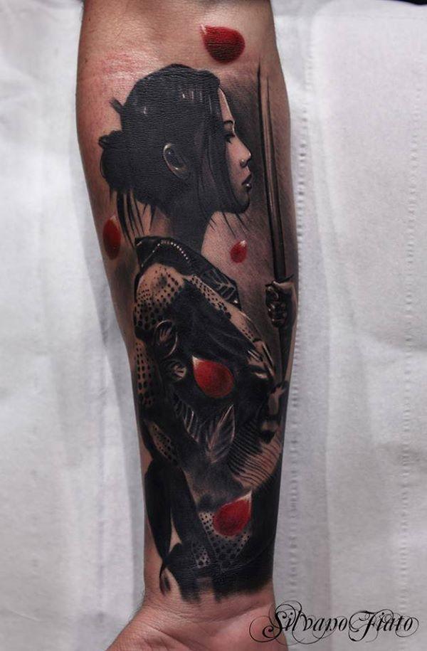 Mẫu Tattoo Geisha