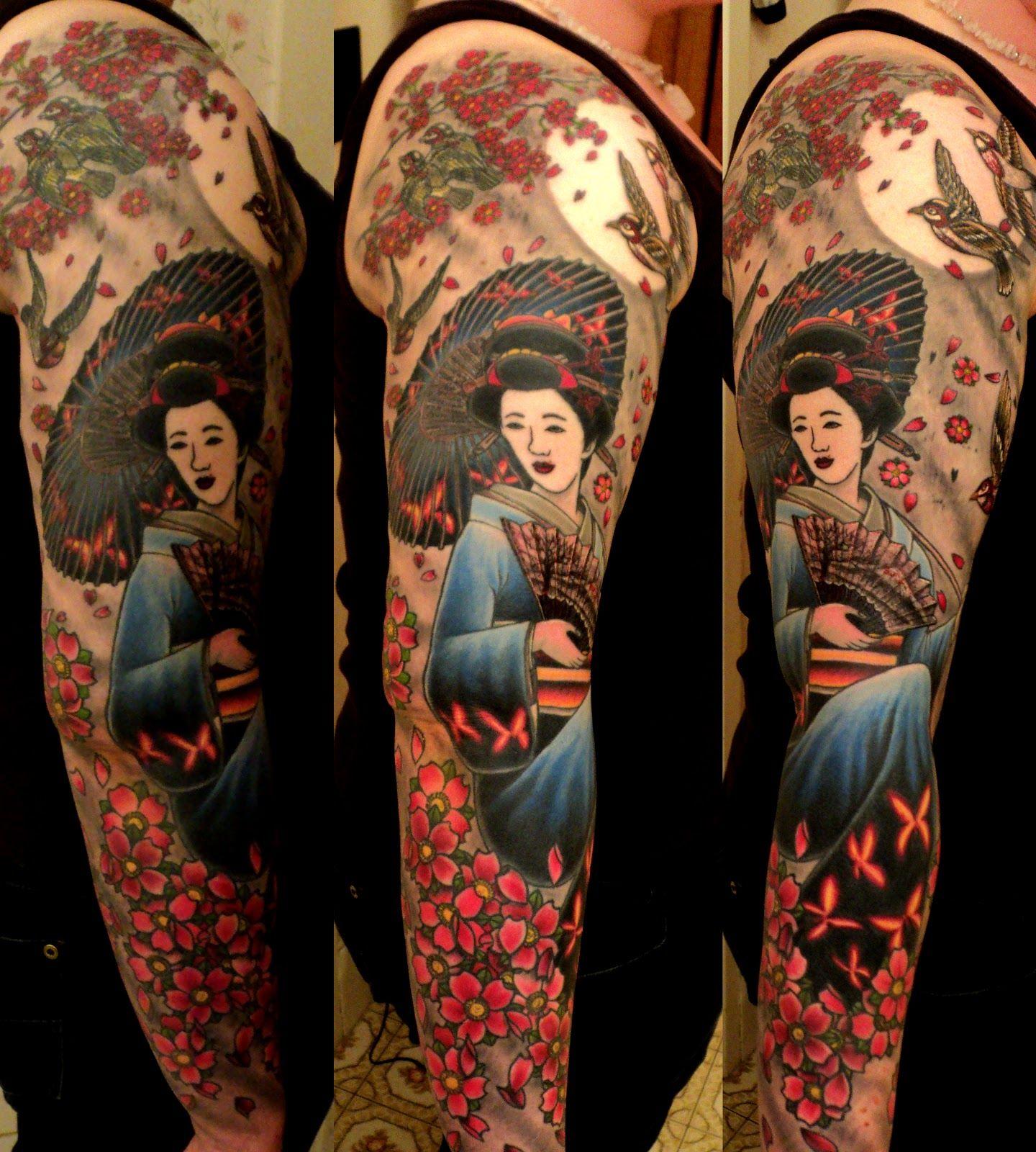 Tattoo hình cô gái Nhật đẹp nhất