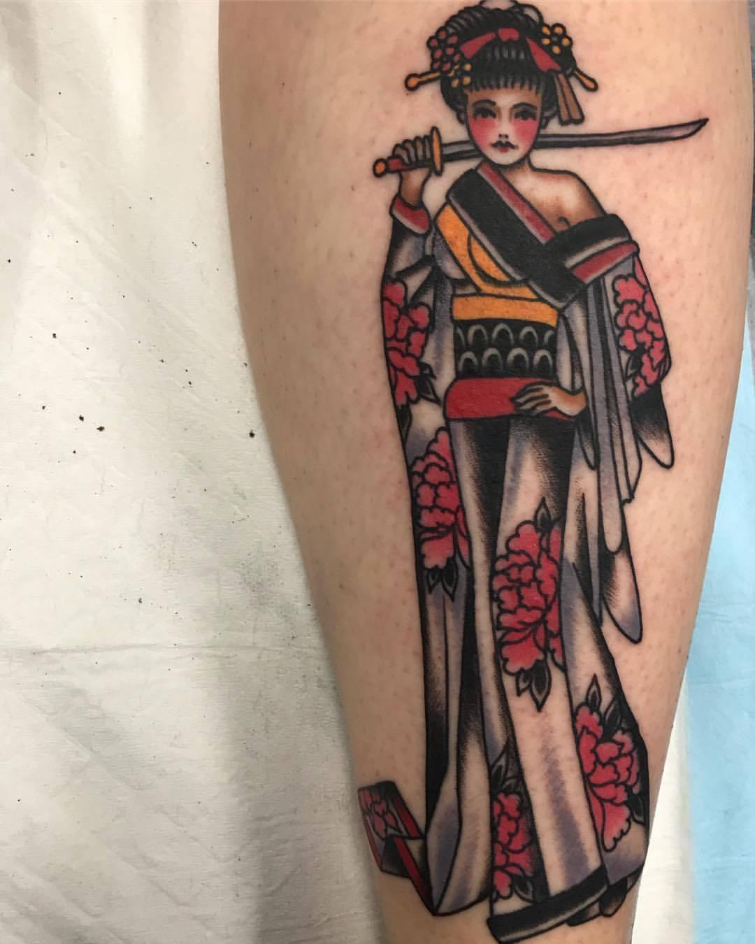 Tattoo hình cô gái Nhật đẹp