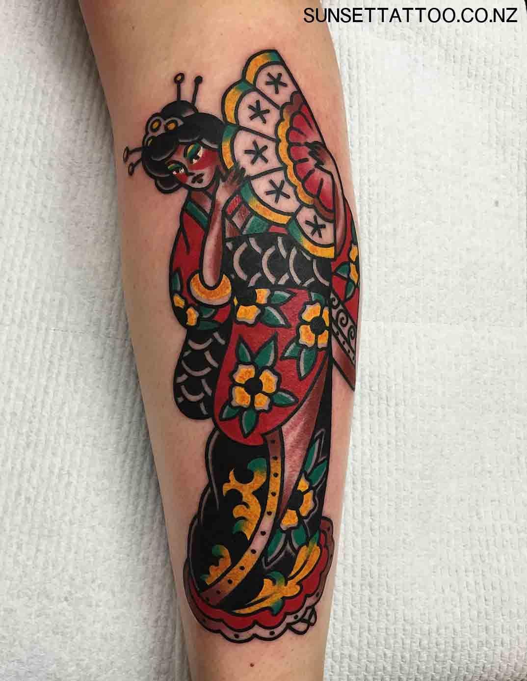 Tattoo hình cô gái Nhật