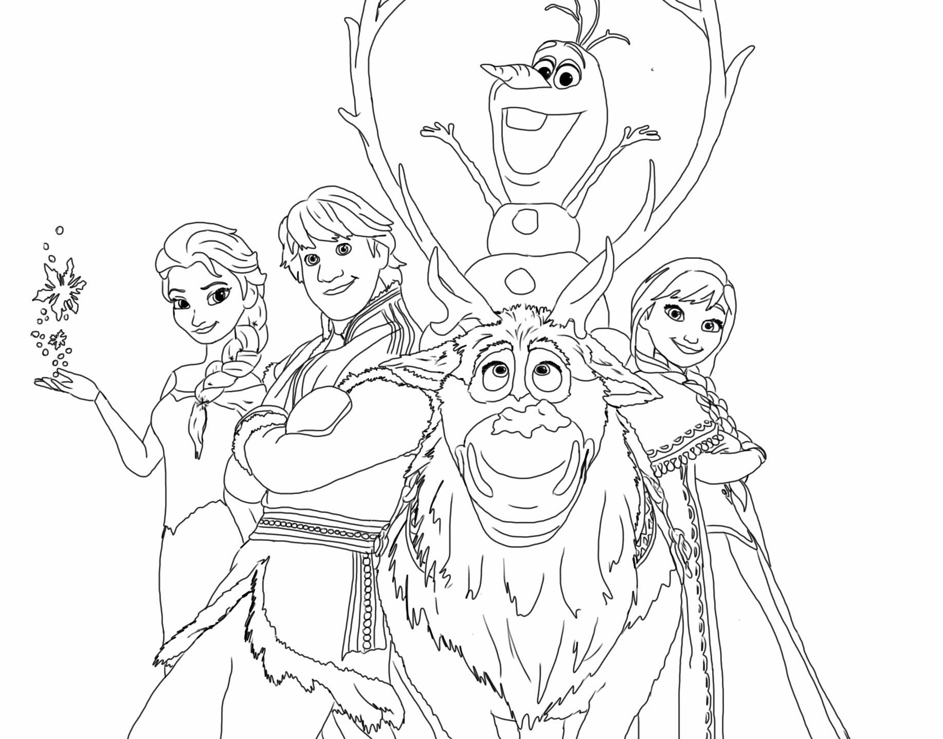 Tranh tô màu công chúa Elsa đáng yêu cho bé