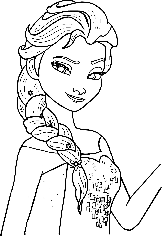 Tranh tô màu công chúa Elsa dễ thương