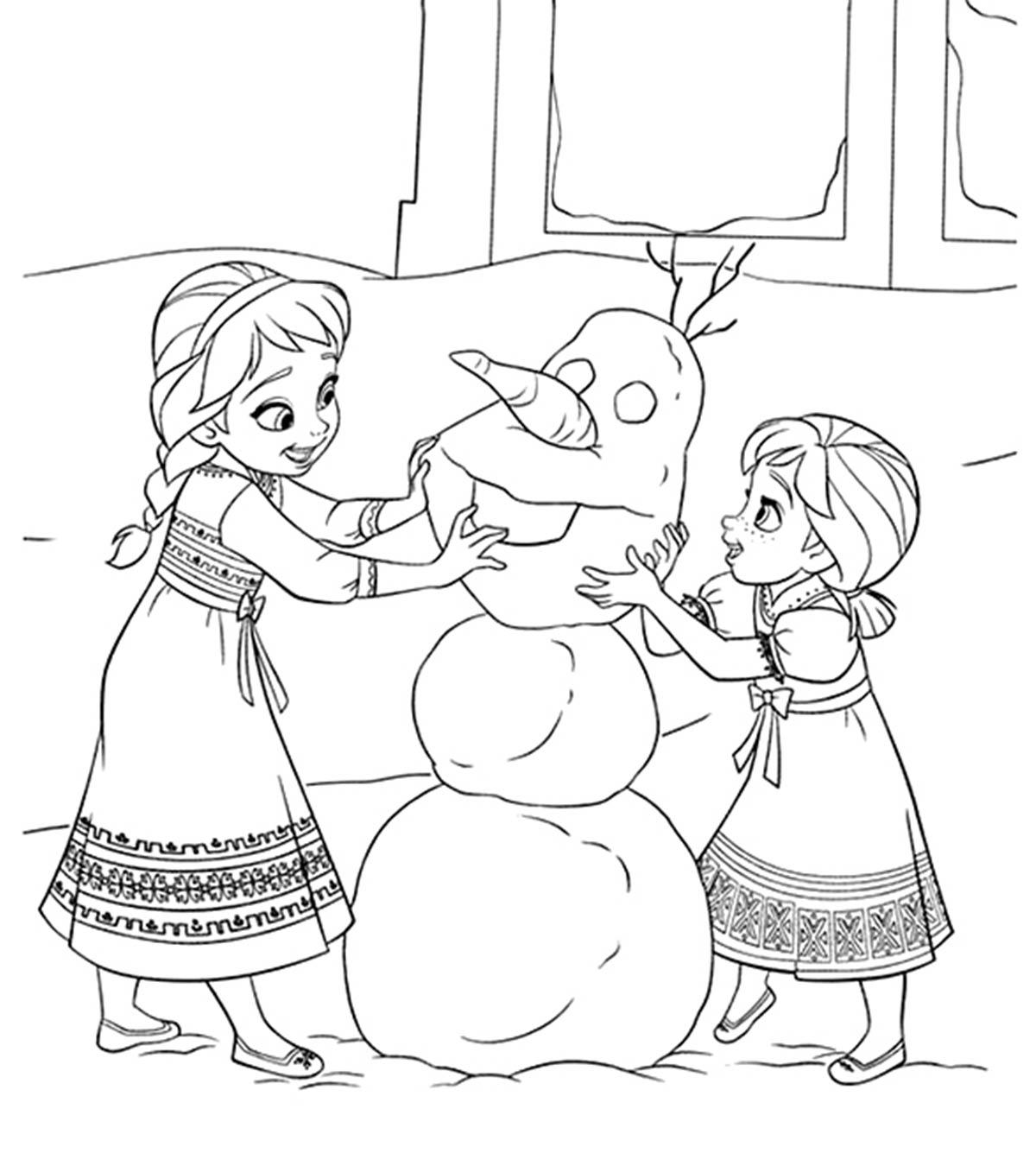 Tranh tô màu công chúa Elsa đẹp nhất