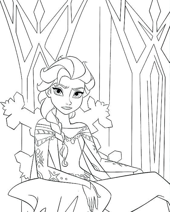 Tranh tô màu Elsa băng giá đẹp