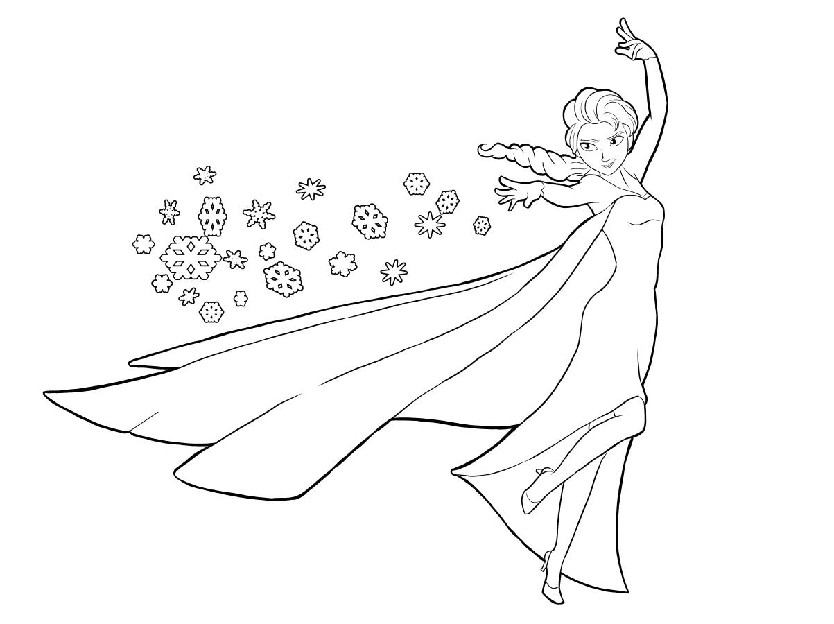 Tranh tô màu Elsa băng giá
