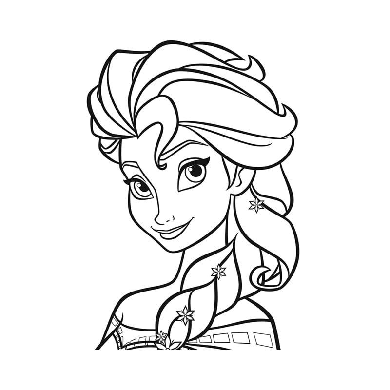 Tranh tô màu Elsa cho bé