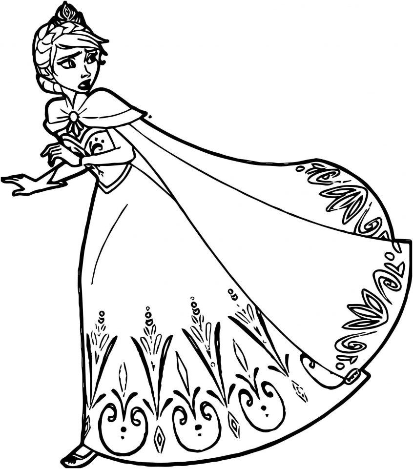 Tranh tô màu nữ hoàng băng giá cho bé