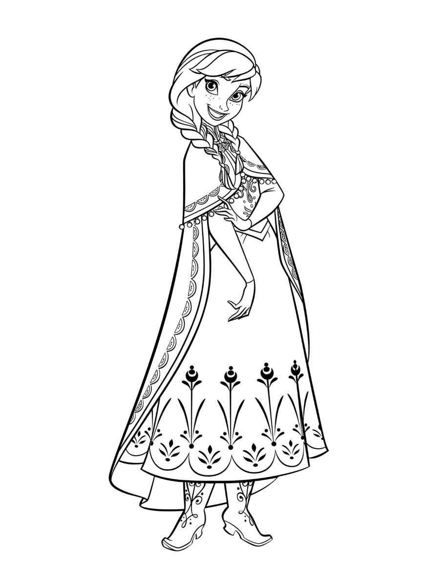 Tranh tô màu nữ hoàng băng giá Elsa