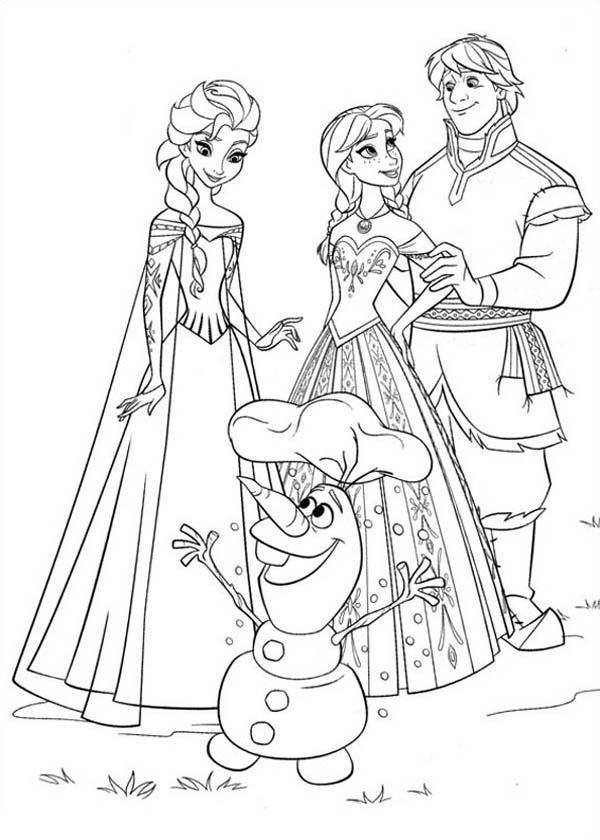 Tranh tô màu phim Frozen