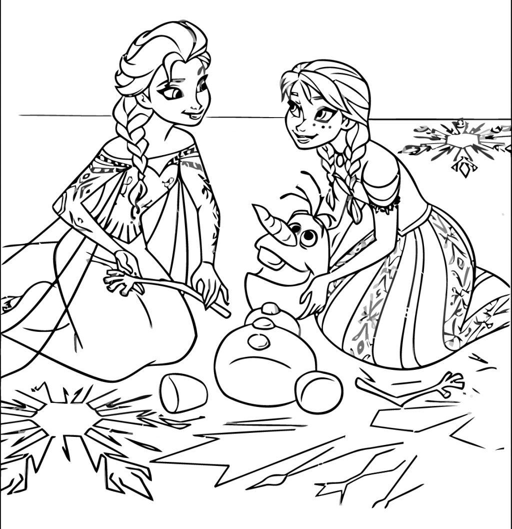 Tranh vẽ tô màu công chúa Elsa cho bé