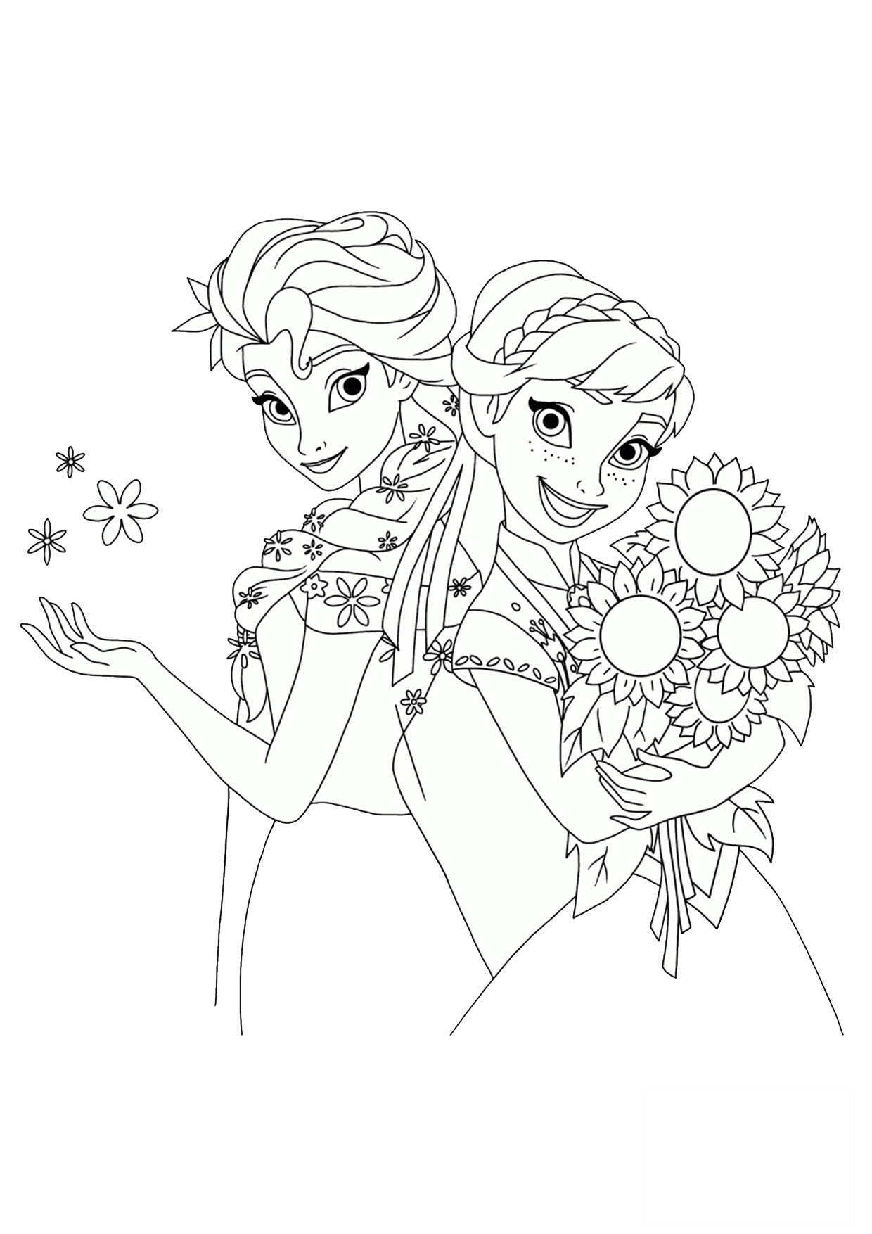 Tranh vẽ tô màu công chúa Elsa đẹp nhất