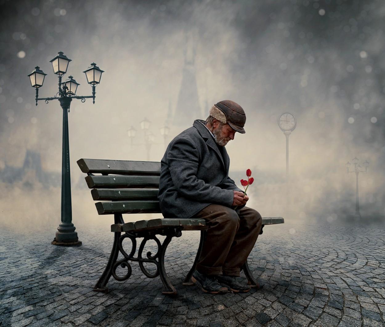 Hình ảnh chàng trai thất tình cô đơn