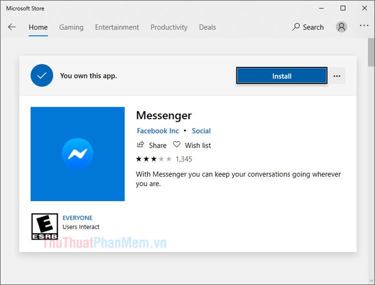 Cách cài đặt và sử dụng Facebook Messenger trên Windows 10