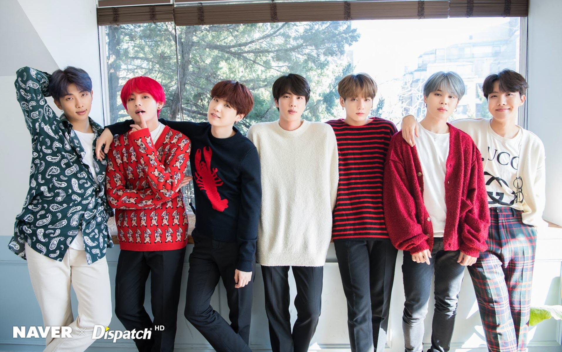 Hình nền nhóm nhạc nam thần BTS cực đẹp
