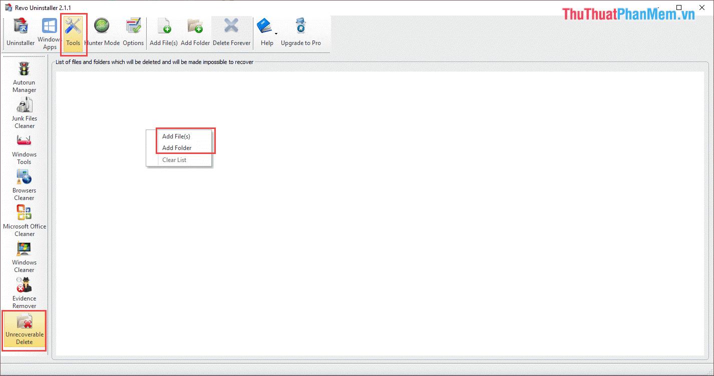 Chọn Add File(s) hoặc Add Folder