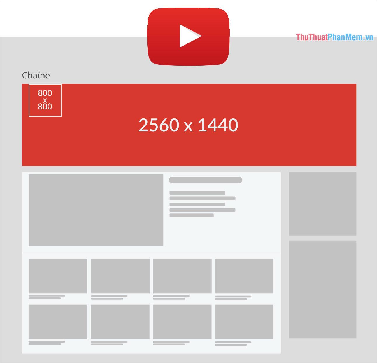 Kích thước ảnh bìa Youtube