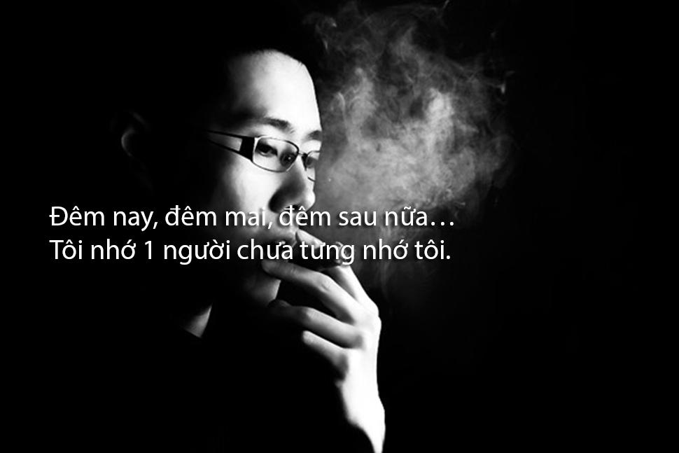 Hình ảnh những câu nói stt khói về nỗi buồn cô đơn