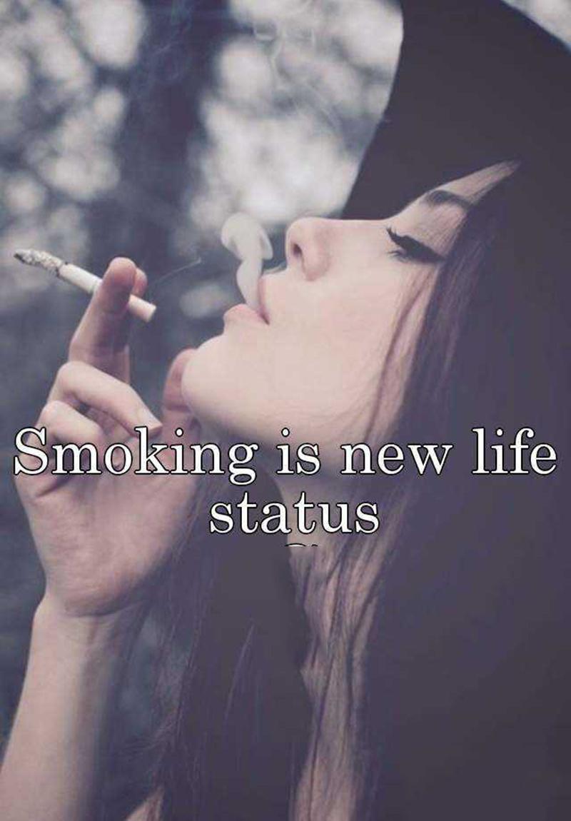 Hình ảnh status khói