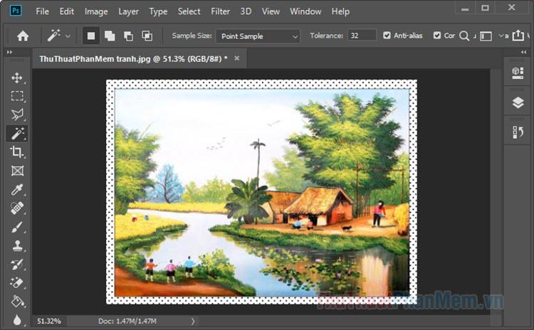Cách làm khung ảnh trong Photoshop