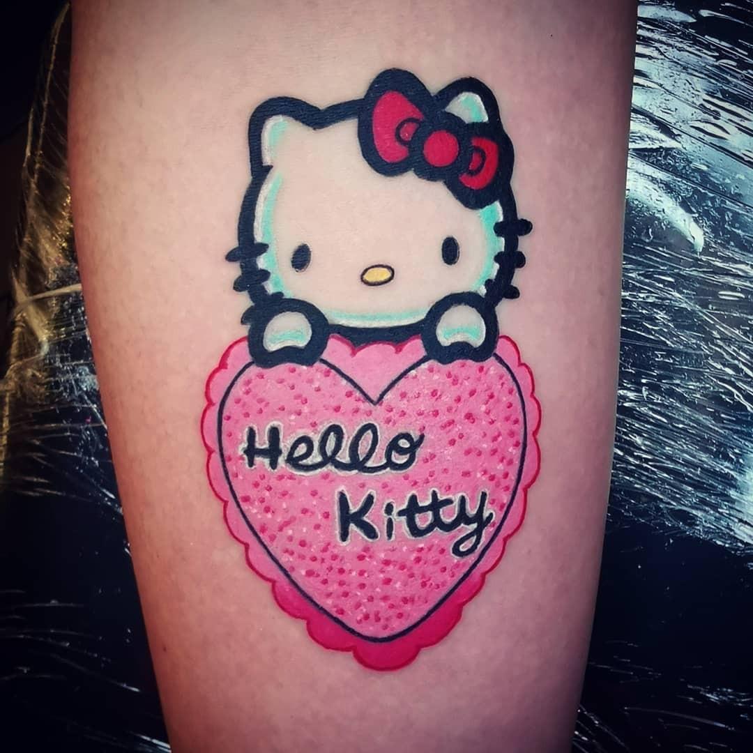Hello kitty hình xăm mini đẹp nhất