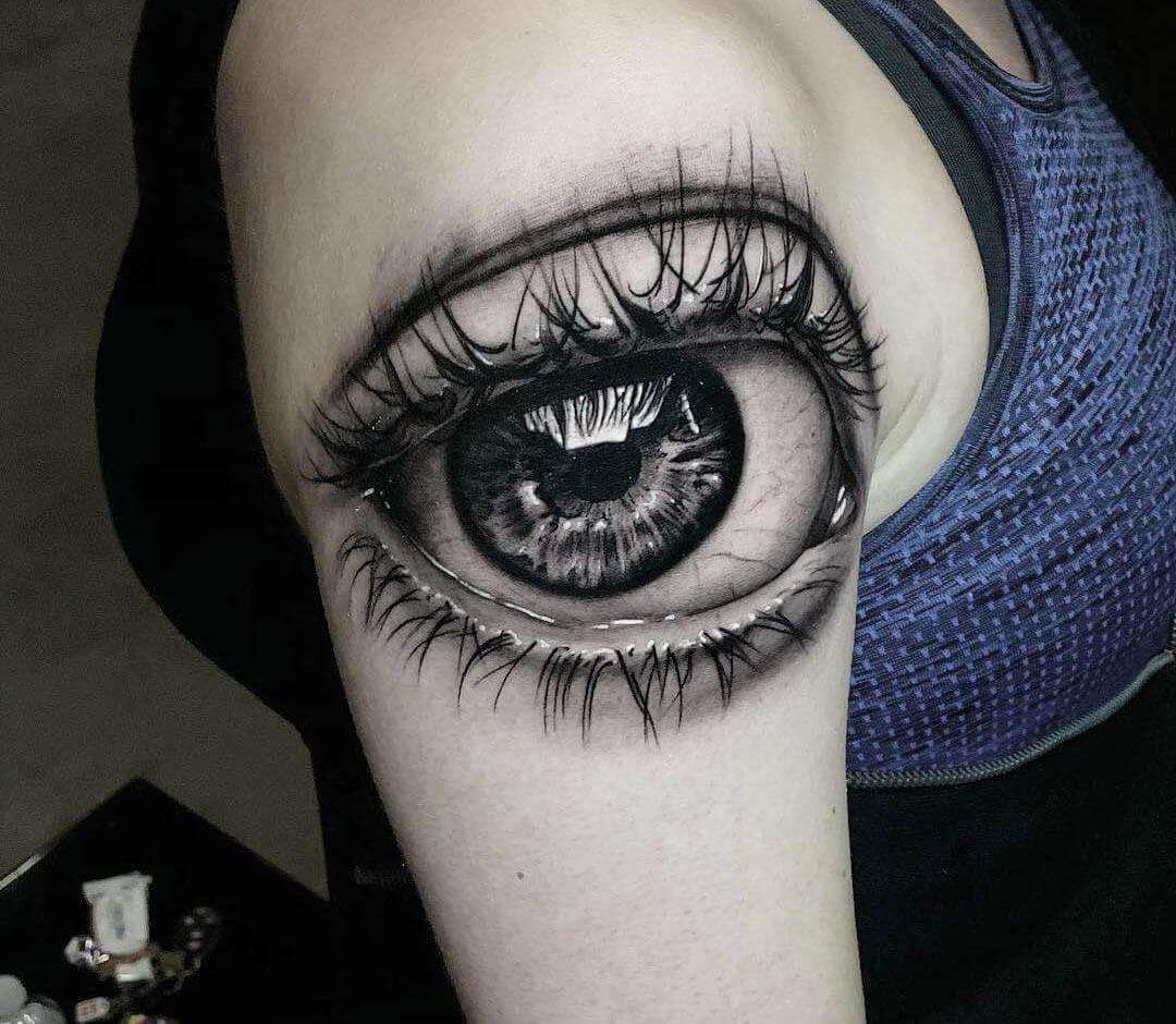 Hình xăm con mắt ở bắp tay đẹp nhất