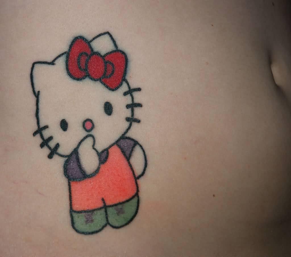 Hình xăm Hello kitty đáng yêu nhất