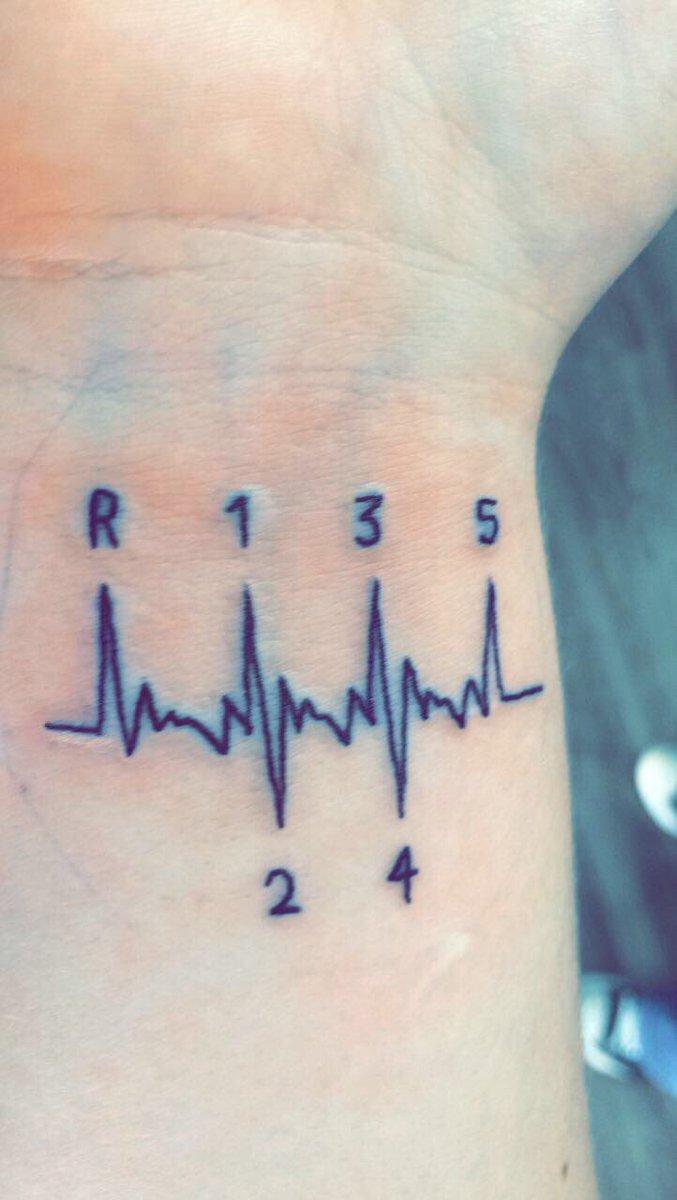 Hình xăm nhịp tim đơn giản và ấn tượng nhất