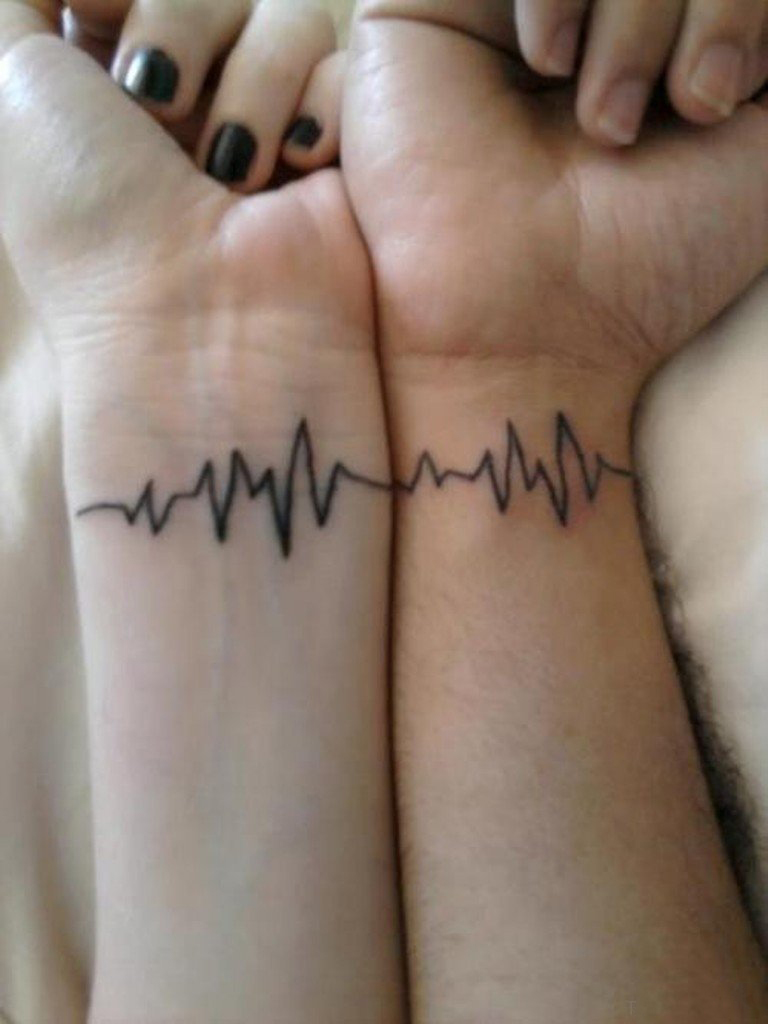 Hình xăm nhịp tim ở cổ tay cho nữ đẹp nhất