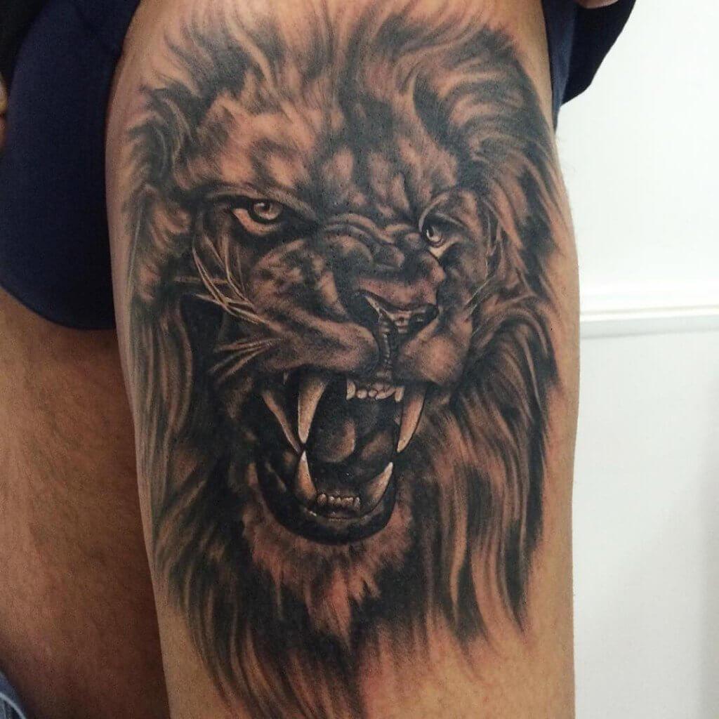 Hình xăm sư tử đơn giản và đẹp nhất
