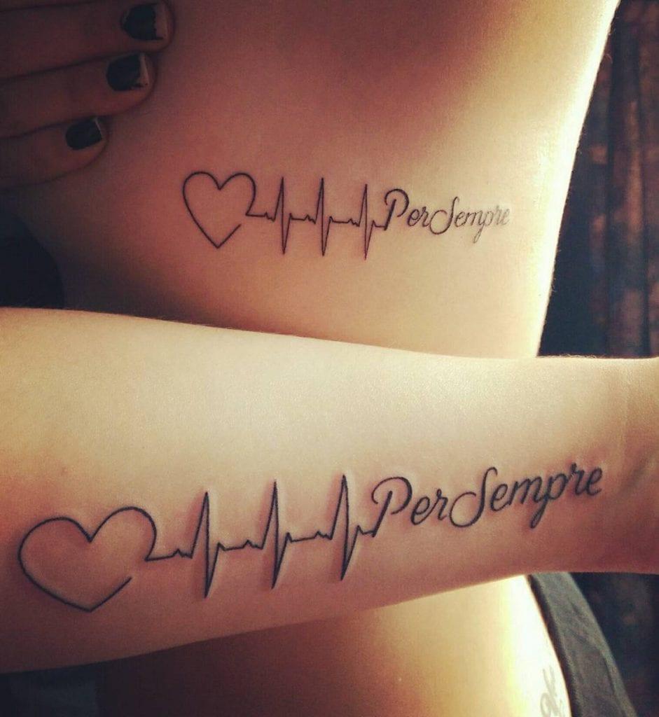 Hình xăm tattoo nhịp tim