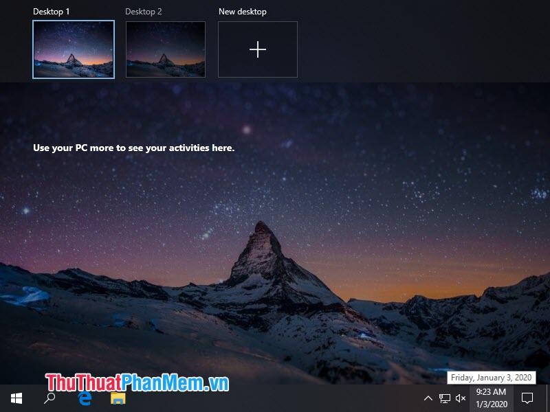 Phím tắt chuyển đổi giữa hai màn hình Desktop ảo