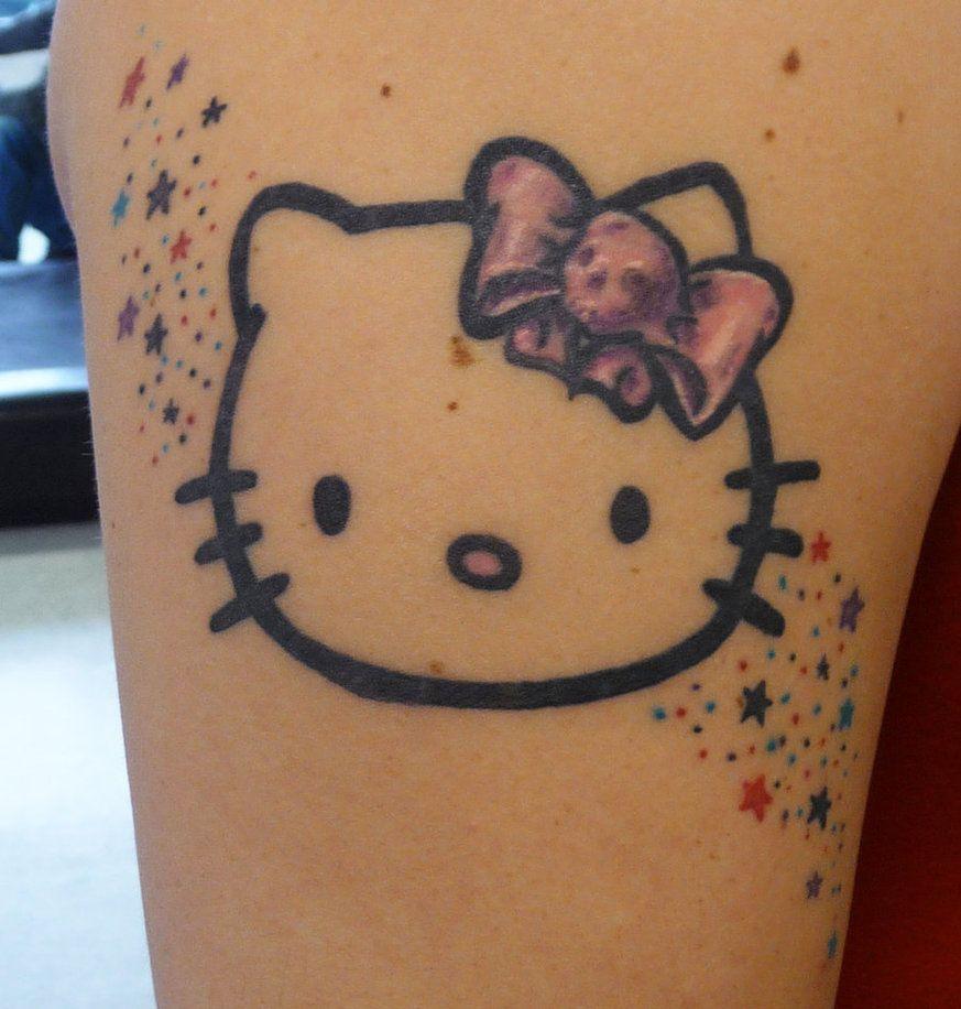 Xăm hình Hello Kitty đẹp
