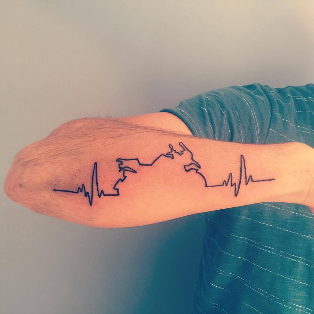 Xăm hình nhịp tim ở tay
