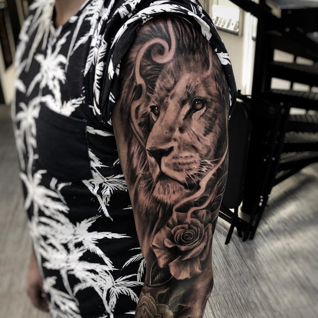 Xăm hình tattoo sư tử đẹp