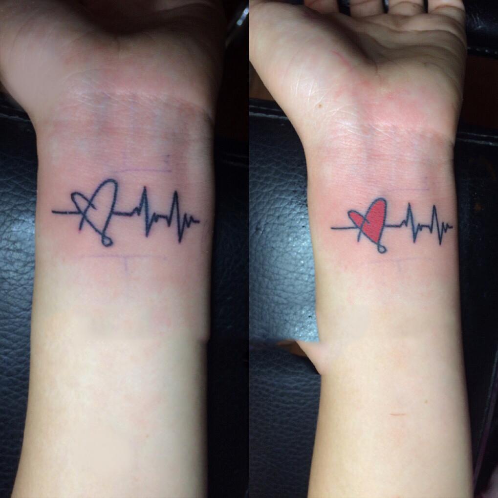 Xăm nhịp tim ở cổ tay đẹp nhất