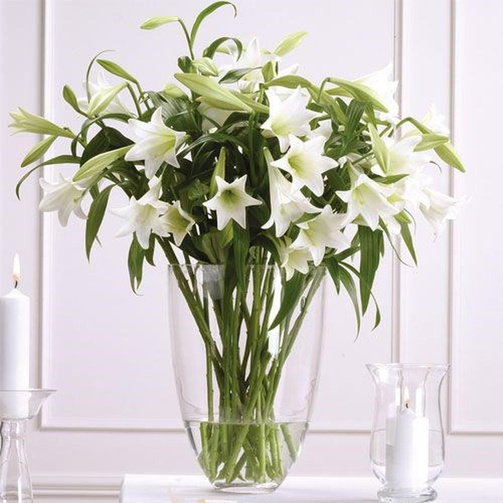 Ảnh bó hoa loa kèn trắng cầm tay cô dâu đẹp nhất