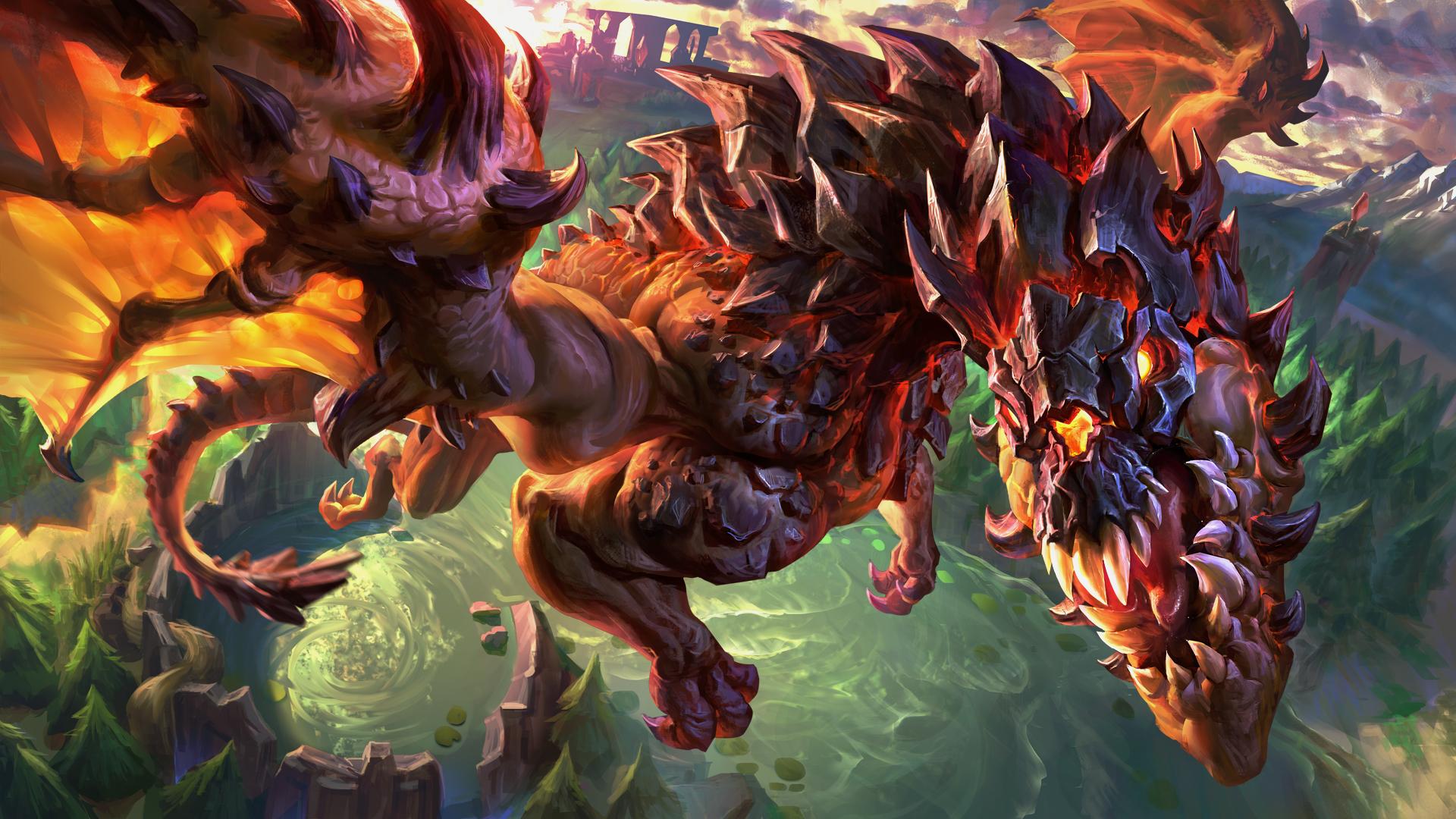 Hình nền rồng lửa liên minh huyền thoại