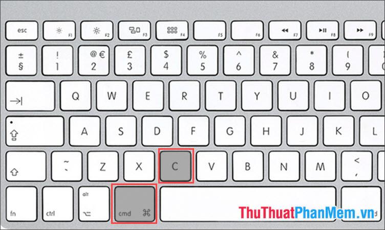 Phím tắt Copy trên MAC OS